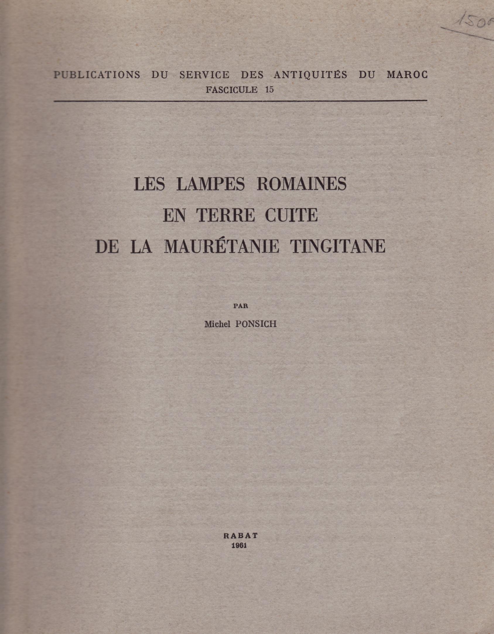 Ponsich 1961